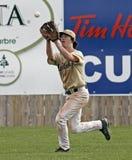 Outfield della sfera del guanto della tazza del Canada di baseball Immagini Stock Libere da Diritti