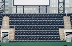 Outfield Seats. Empty grandstand seats in a sports complex Royalty Free Stock Photography