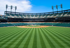 Outfield van het honkbalstadion Mening Stock Foto's
