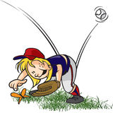 Outfielder desinsetado Fotografia de Stock