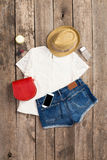 Outfit of casual woman Royalty Free Stock Image