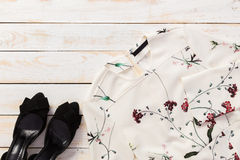 Outfit of casual woman. Modern outfit of casual woman Royalty Free Stock Photography