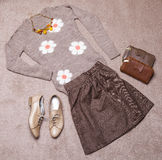 Outfit of casual woman Royalty Free Stock Images