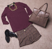 Outfit of casual woman Royalty Free Stock Photos
