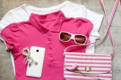 Outfit of casual woman. Stock Image
