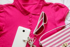 Outfit of casual woman. Royalty Free Stock Photos