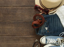 Outfit of casual woman. Royalty Free Stock Image