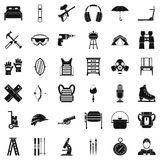 Outfit icons set, simple style. Outfit icons set. Simple set of 36 outfit vector icons for web isolated on white background Royalty Free Stock Photography