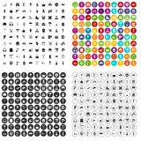 100 outfit icons set vector variant. 100 outfit icons set vector in 4 variant for any web design isolated on white stock illustration