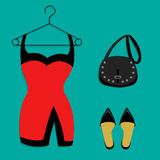Outfit party illustration Stock Images