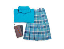 Outfit of student.Different objects on white background. Stock Photos