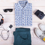 Outfit of young guy. Royalty Free Stock Image