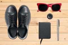 Outfit of young traveler Royalty Free Stock Images