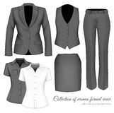The Outfits for the Professional Business Women. Royalty Free Stock Image