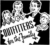 Outfitters For The Family Royalty Free Stock Images