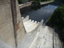 Outflow from slapy dam in czech republic Stock Images