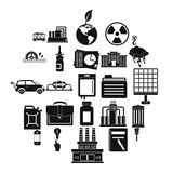 Outgoings icons set, simple style. Outgoings icons set. Simple set of 25 outgoings vector icons for web isolated on white background Royalty Free Stock Image