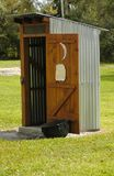The Outhouse. A typical outouse you might see on a farm or older rural house Stock Images