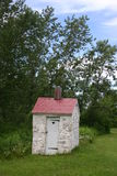 Outhouse. Old outhouse with hart in door stock image