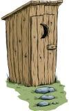 outhouse stock de ilustración