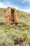 Outhouse in Bodie Ghost Town Stock Image