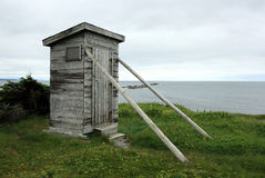 Outhouse at Broom Point Royalty Free Stock Photography