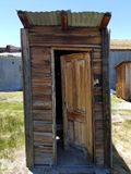 Outhouse California. Outhouse in ghost town in California Stock Image