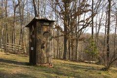 Outhouse di legno Fotografie Stock Libere da Diritti
