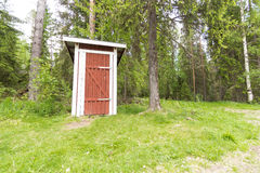 Outhouse at a halting place Stock Photo