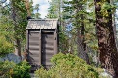 outhouse lasowa toaleta Obrazy Royalty Free