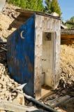 Outhouse a mezzaluna della luna Fotografia Stock