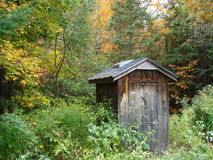 Outhouse northern Ontario Stock Photography