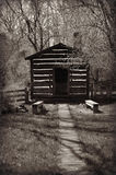 Outhouse. An Old Fashioned heated outhouse at Old World Wisconsin in Eagle, Wisconsin royalty free stock photos