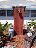 Outhouse out front Royalty Free Stock Image