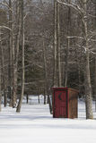 Outhouse in Snow Royalty Free Stock Photos