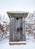 Outhouse in Snow Royalty Free Stock Photography