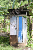Outhouse toilet bathroom zinc house nicaragua Royalty Free Stock Images