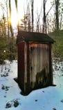 Outhouse w drewnach Zdjęcie Royalty Free