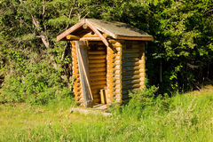 An outhouse in the wilderness Stock Photography
