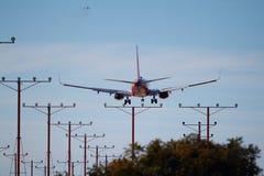 Outhwest flygbolag Boeing 737-7BX Fotografering för Bildbyråer