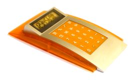 Outil d'affaires - calculatrice Photos stock