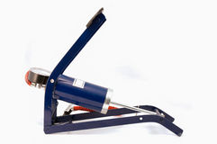 Outil d'ouvrier chargé des pompes d'air de pied Image stock