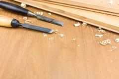 Outil de burin de charpentier Images stock