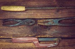 Outil de métal ouvré des temps de l'Union Soviétique photo libre de droits