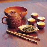 outil de thé de boissons de porcelaine Images libres de droits