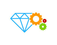 Outil Diamond Icon Logo Design Element de vitesse Images libres de droits