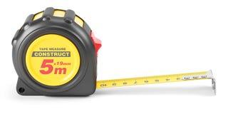 Outil jaune de mesure de bande Photos stock