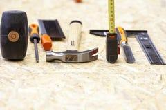 Outil manuel dans le carpenter& x27 ; atelier de s Images stock