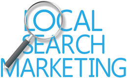 Outil marketing local de recherche de découverte Photos libres de droits