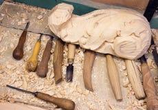Outil pour le découpage du bois Image stock